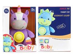 Plush Soothes Unicorn W/L_S toys