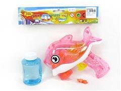 Friction Bubble Gun W/L toys