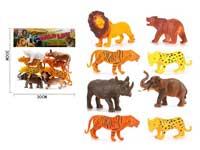 8Pcs Plastic Wild Animal Toy Set