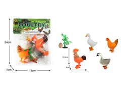 5.5inch Poultry Animals Set toys