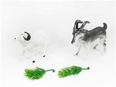 Goat & Sheep & Grass toys