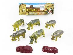 Rhinoceros & Hippopotamus & Grotto toys