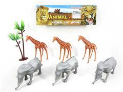 Elephant & Giraffe & Coconut Tree toys