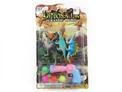 Dinosaur Set & Pingpong Gun toys